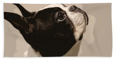 Boston Terrier Bath Towel by Donna G Smith