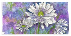 Hand Towel featuring the painting Daisy Three by Cathie Richardson