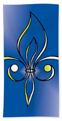 Fleur De Lis In Gold Hand Towel by Alycia Christine