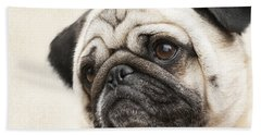 L-o-l-a Lola The Pug Hand Towel by Kathy Clark