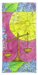 Hand Towel featuring the painting Libra by Cathie Richardson