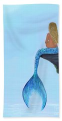 Hand Towel featuring the painting Mermaids Bundle To Be by Leslie Allen