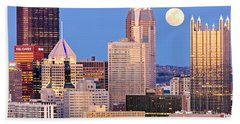 Moon Over Pittsburgh 2 Bath Towel