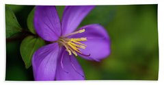 Purple Flower Macro Hand Towel by Dan McManus
