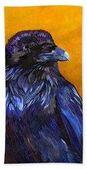 Raven Bath Towel by J W Baker