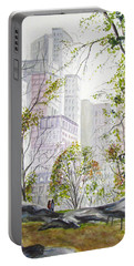 Central Park Stroll Portable Battery Charger by Clara Sue Beym