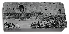 Commencement Georgetown University Portable Battery Charger by Fred Schutz Collection