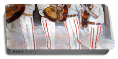 Portable Battery Charger featuring the painting Mariachi  Musicians by Carole Spandau