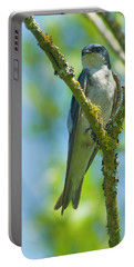 Portable Battery Charger featuring the photograph Bird In Tree by Rod Wiens