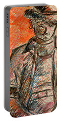 Portable Battery Charger featuring the painting Boy In Red by Cathie Richardson