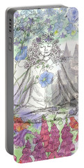 Portable Battery Charger featuring the painting Celestial Castle by Cathie Richardson