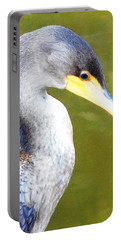 Portable Battery Charger featuring the photograph    Cormorant 003 by Chris Mercer