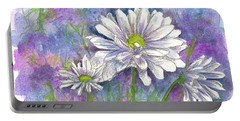 Portable Battery Charger featuring the painting Daisy Three by Cathie Richardson
