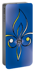 Fleur De Lis In Gold Portable Battery Charger