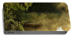 Golden Mist At Knife Lake Portable Battery Charger