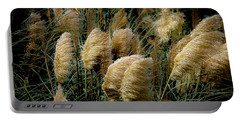 Golden Pampas In The Wind Portable Battery Charger by DigiArt Diaries by Vicky B Fuller