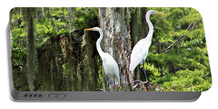 Great White Egrets Portable Battery Charger