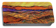 Landscape In Yellow Portable Battery Charger