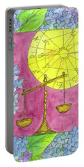 Portable Battery Charger featuring the painting Libra by Cathie Richardson