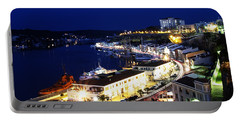 Portable Battery Charger featuring the photograph Mahon Harbour At Night by Pedro Cardona