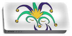 Mardi Gras Jester Portable Battery Charger