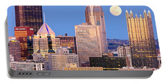 Moon Over Pittsburgh 2 Portable Battery Charger