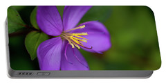 Purple Flower Macro Portable Battery Charger by Dan McManus