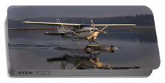 Reflections Of A Float Plane Portable Battery Charger by Darcy Michaelchuk
