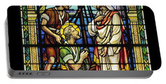 Saints Peter And Andrew With Christ  Portable Battery Charger