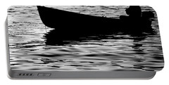 Portable Battery Charger featuring the photograph The Old Fishermen by Pedro Cardona