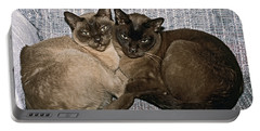 Tonkinese Pals Portable Battery Charger by Sally Weigand