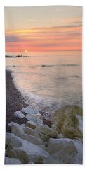 Sunrise At The White Cliffs Of Dover Beach Towel