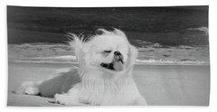 Beachbum Black And White Beach Sheet by Ania M Milo