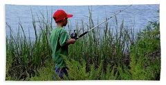 Fishing At Hickory Mound Beach Sheet