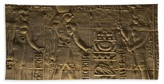 Hieroglyph At Edfu Beach Towel by Darcy Michaelchuk