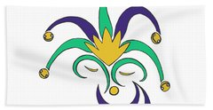 Mardi Gras Jester Beach Sheet