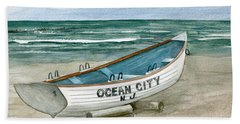 Ocean City Lifeguard Boat Beach Towel