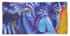 Beach Sheet featuring the painting Pretty Face Cow by Jenn Cunningham
