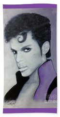 Purple Prince Beach Towel