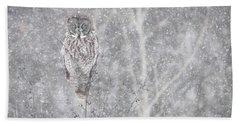 Silent Snowfall Landscape Beach Sheet by Everet Regal