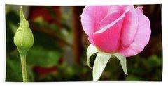 Soft Pink Wild Rose Beach Sheet
