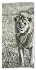 The King Stands Tall Beach Towel by Darcy Michaelchuk