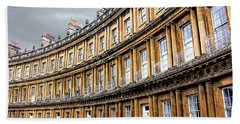 Beach Sheet featuring the photograph The Royal Crescent, Bath by Wallaroo Images