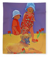 The Boxer Puppy Fleece Blanket