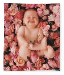 Baby Flowers 2 Fleece Blanket