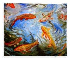 Fish Reflections Fleece Blanket