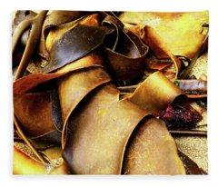 Golden Kelp Fleece Blanket