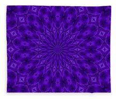Ultraviolet Enigma Pattern Fleece Blanket