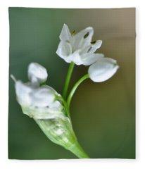 White Blossom 3 Fleece Blanket