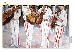 Carry-all Pouch featuring the painting Mariachi  Musicians by Carole Spandau